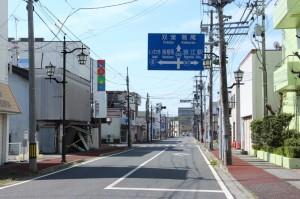 福島県浪江町の街並み